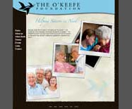 The O'Keefe Foundation website design